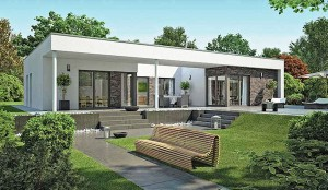 dfh haus cz bungalow fn 110 170 a rodinn domy. Black Bedroom Furniture Sets. Home Design Ideas
