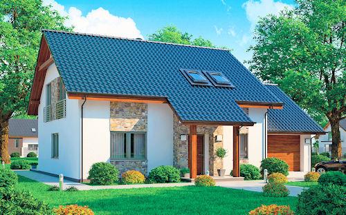 Praktický rodinný dům klasického střihu s typovým označením Lenka 24 splňuje všechny současné nároky pohodlného bydlení. Jako všechny domy Ekonomických staveb může být podle přání stavebníka realizován z cihelného zdiva, pórobetonu či technologií ztraceného bednění.