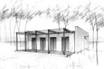 Pokud je terasa rodinného domu orientovaná jižně, stává se možnost jejího alespoň příležitostného zakrytí nutností (dům Dentro / Haas Fertigbau)
